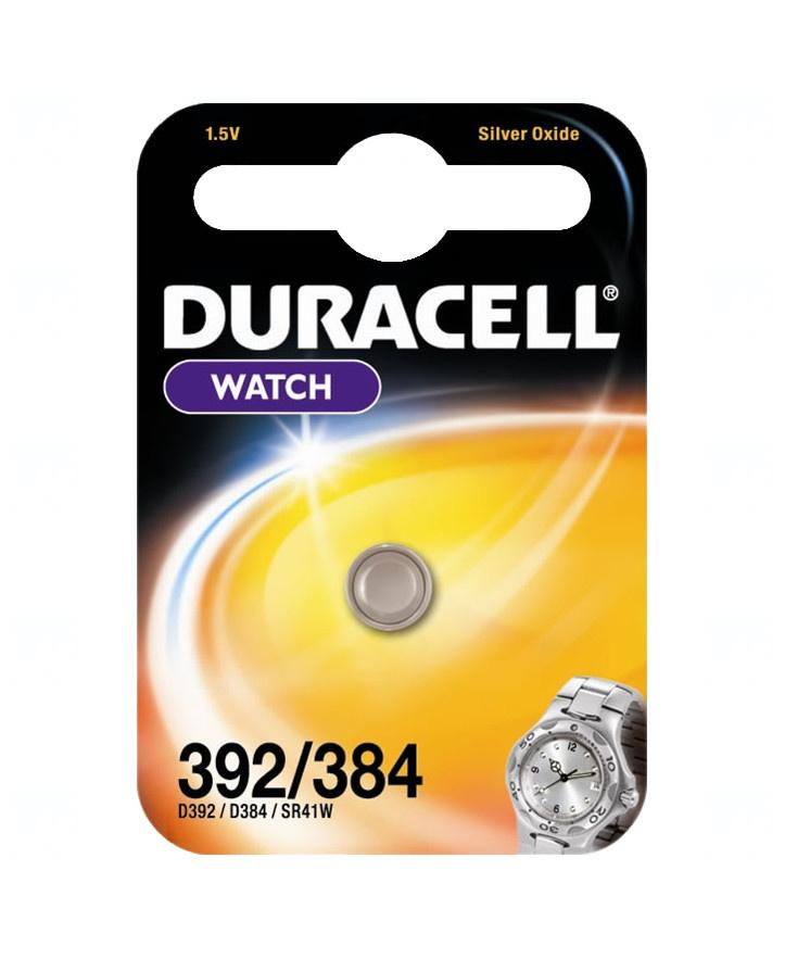 Baterie Duracell 384, 392, LR41, AG3, G3, LR736, GP392, V384, V392, D392, L736, 1,5V, blistr 1 ks, silver oxide