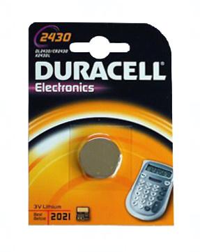 Baterie Duracell CR2430, DL2430, BR2430, KL2430, LM2430, 3V, blistr 1 ks