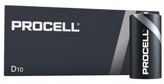 Baterie Duracell Industrial D, LR20, velké mono, AM1, XL, BA3030, MN1300, 813, E95, LR20N, 13A, 1,5V, 10 ks