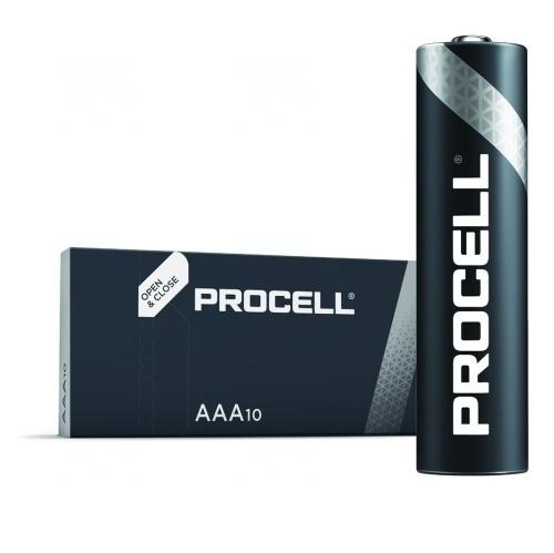 Baterie Duracell Procell AAA, LR03, mikrotužková, 1,5V, 10 ks