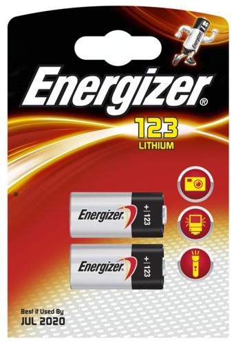 Baterie Energizer CR123, CR123A, CR17345, DL123A, EL123AP, K123LA, 3V, blistr 2ks
