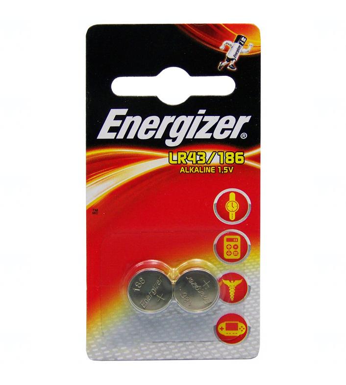 Baterie Energizer LR43, AG12, G12A, 186, LR1142, V12GA, 1,5V, blistr 2 ks