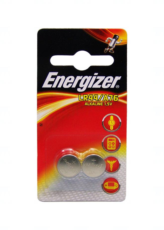 Baterie Energizer LR44, AG13, G13A, A76, V13GA, LR1154, PX76A, RW82, SR44SW, 357, V357, 357A, 1,5V, blistr 2 ks