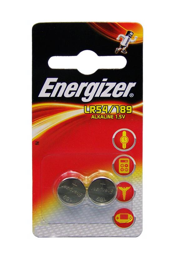 Baterie Energizer LR54, AG10, G10A, V10GA, 189, LR1130, RW89, SR54, 389, 390, 554, 1,5V, blistr 2 ks