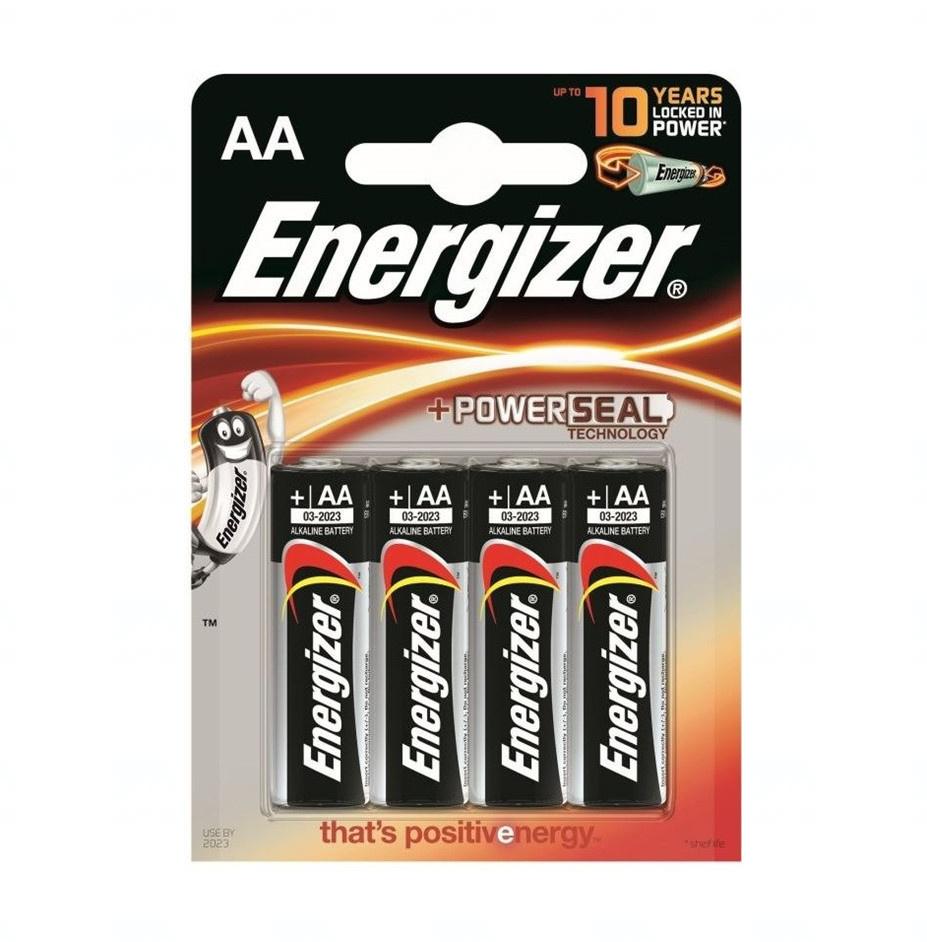 Baterie Energizer Alkaline Power AA, LR6, tužková, 1,5V, blistr 4 ks