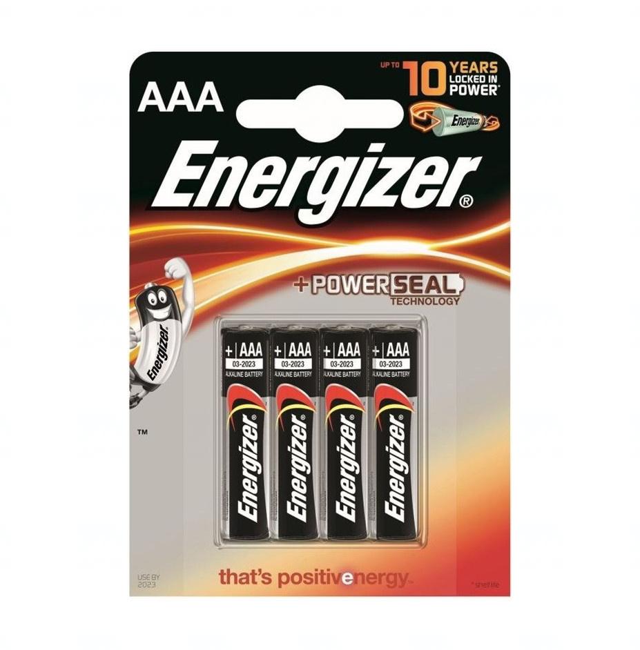Baterie Energizer Alkaline Power AAA, LR03, mikrotužková, 1,5V, blistr 4 ks