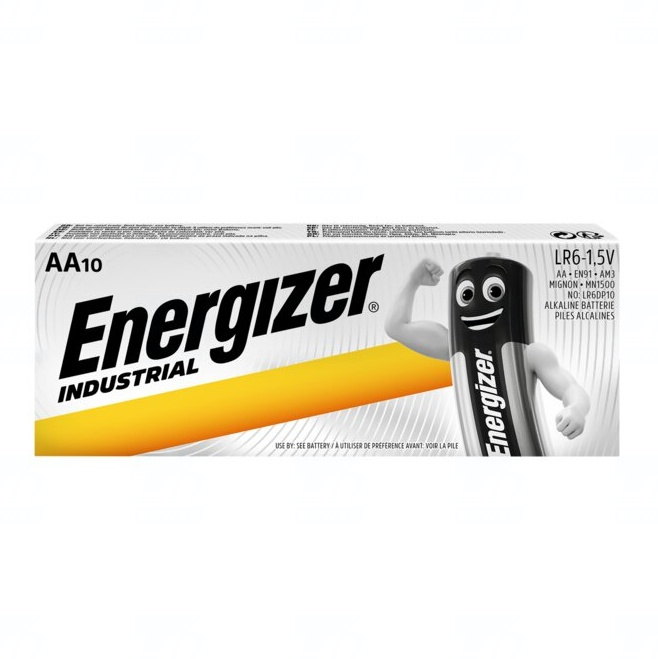 Baterie Energizer Industrial AA, LR6, tužková, 1,5V, 10 ks