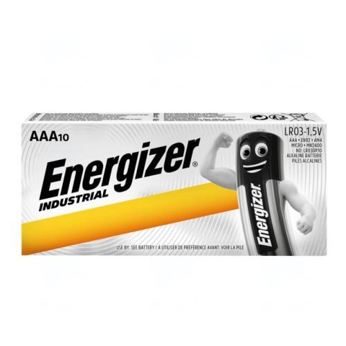 Baterie Energizer Industrial AAA, LR03, mikrotužková, 1,5V, 10 ks