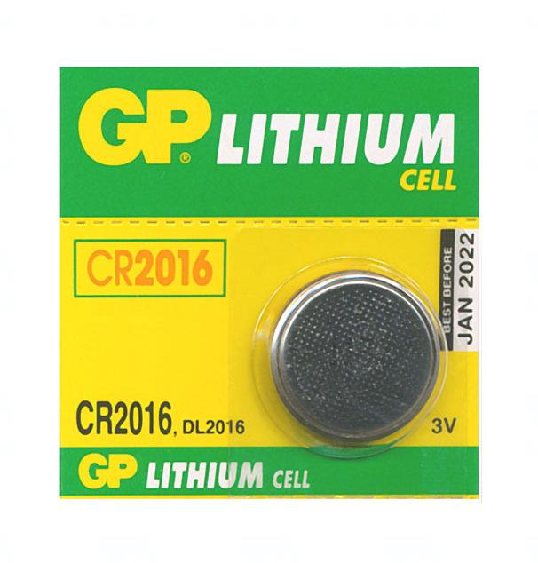 Baterie GP CR2016, DL2016, BR2016, 3V, blistr 1ks