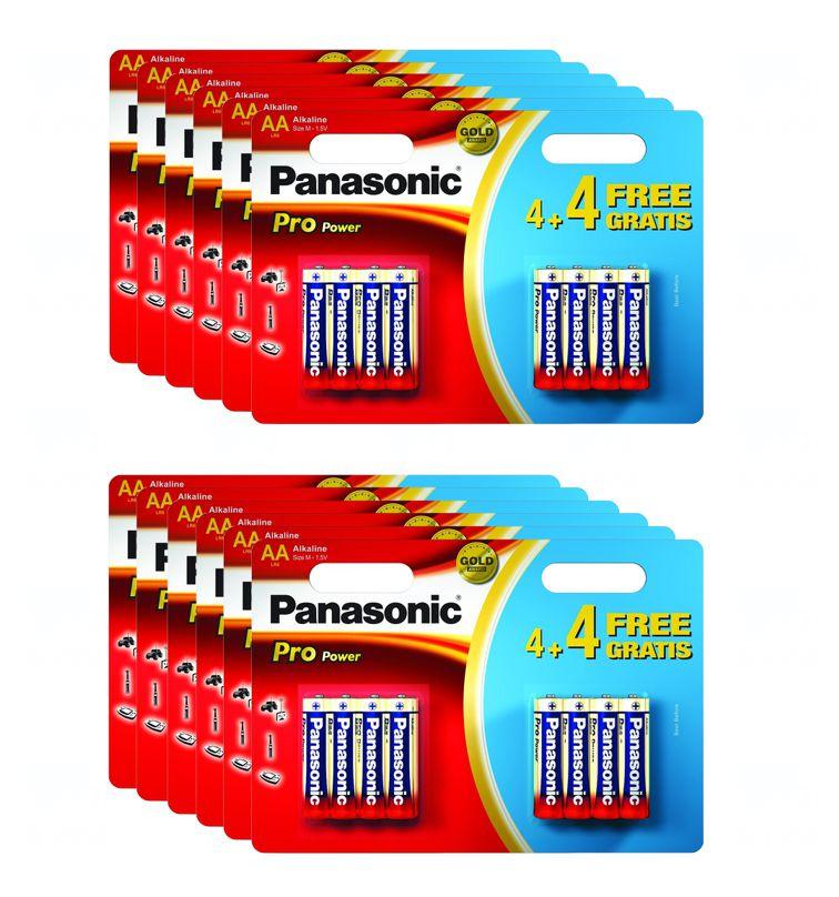12x Baterie Panasonic PRO POWER AA, LR6, tužková, 1,5V, blistr 8 ks (1 karton)