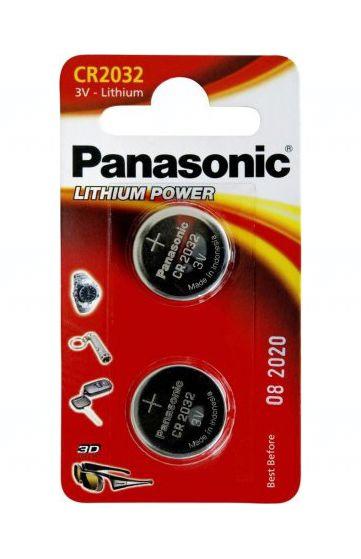 Baterie Panasonic CR2032, DL2032, BR2032, LM2032, KCR2032, KL2032, SB-T15, SR302, 3V, blistr 2 ks
