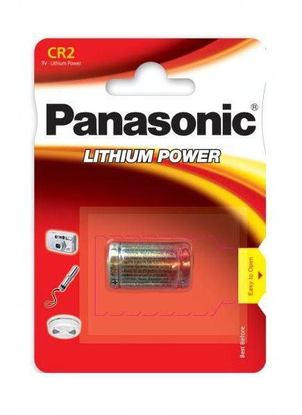 Baterie Panasonic CR2, EL1CR2, DLCR2, KCR2, RLCR2, DR2R, RLCR2-L, 5046LC, CR17355, 3V, 850mAh, blistr 1 ks