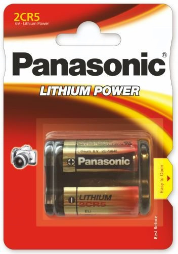 Baterie Panasonic 2CR5, EL2CR5, DL245, KL2CR5, EL2CR5BP, RL2CR5, DL345, 5032LC, 245, 6V, blistr 1ks