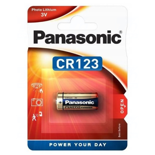 Baterie Panasonic CR123, CR123A, CR17345, DL123A, EL123AP, K123LA, LR123, 3V, blistr 1 ks
