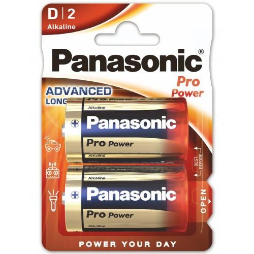 Baterie Panasonic PRO POWER D, LR20, velké mono, AM1, XL, BA3030, MN1300, 813, E95, LR20N, 13A, 1,5V, blistr 2 ks