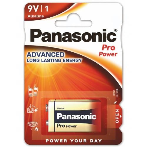 Baterie Panasonic PRO POWER 9V, 6LR61, A1604, 6LF22, 6F22, 6UM6, MN1604, LR22, blistr 1 ks