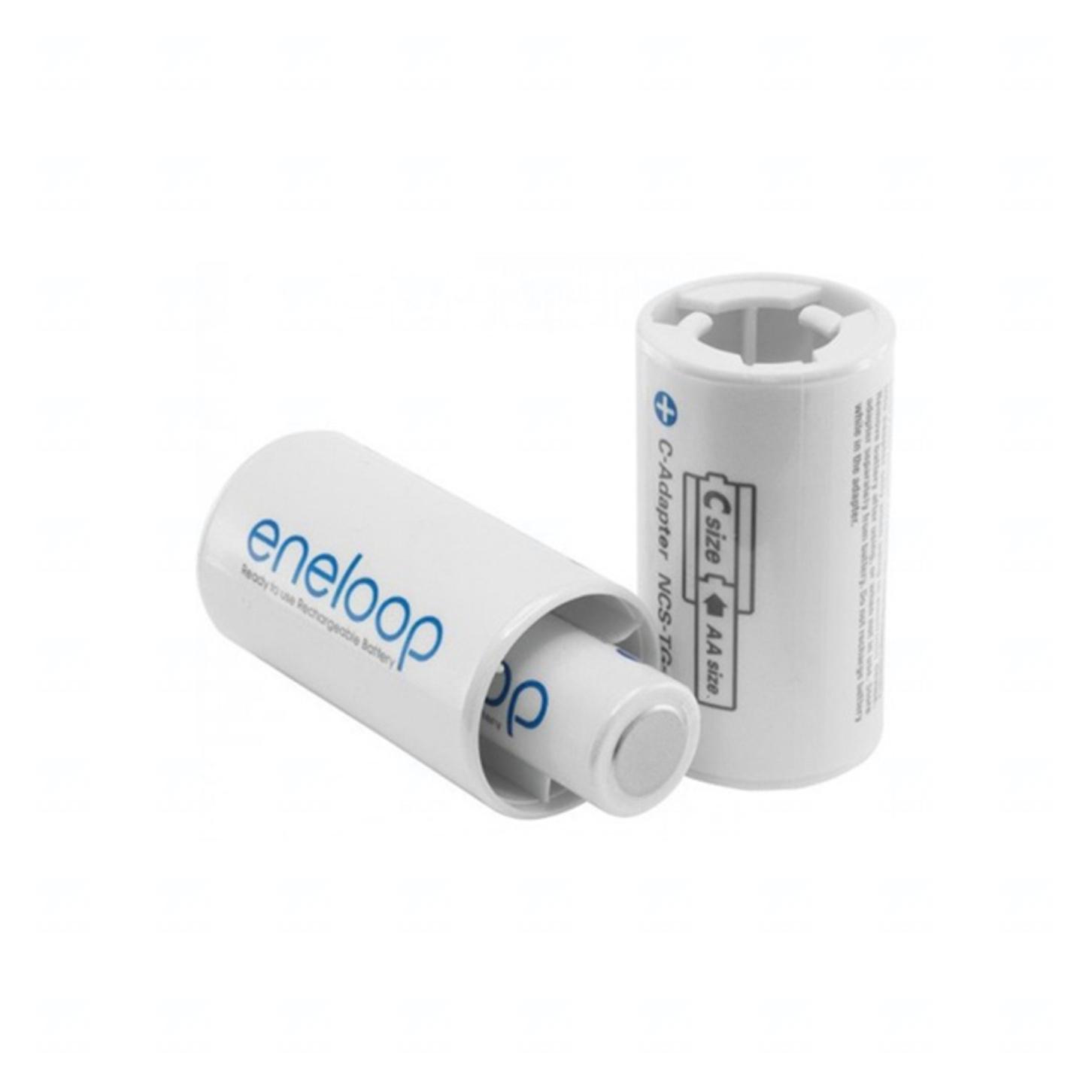 Adapter Panasonic Eneloop BQ-BS2E/2E, C size, blistr 2 ks