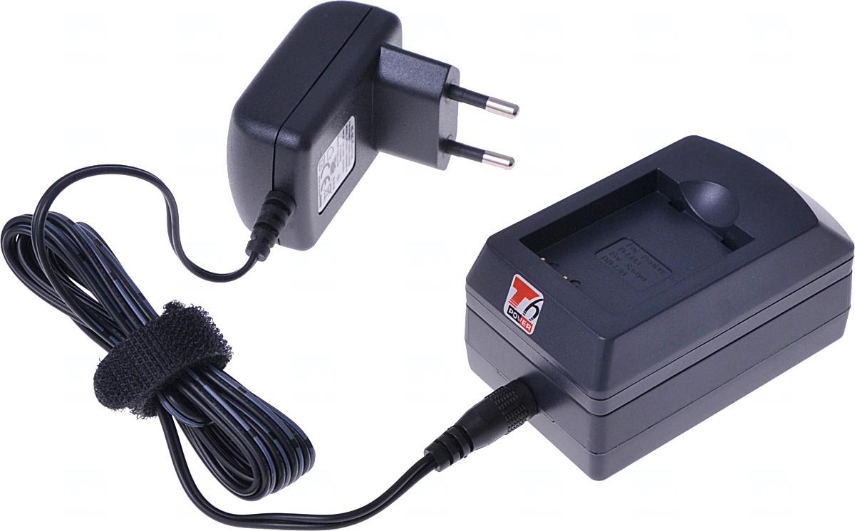 Nabíječka T6 power pro Panasonic DMW-BCC12, CGA-S005E, CGA-S005, CGA-S005A, CGA-S005A/1B, IA-BP125A, NP-70, BP-DC4, BP-DC4-E, D-Li106, IA-BH125C, BP-41, 230V, 12V, 0,5A
