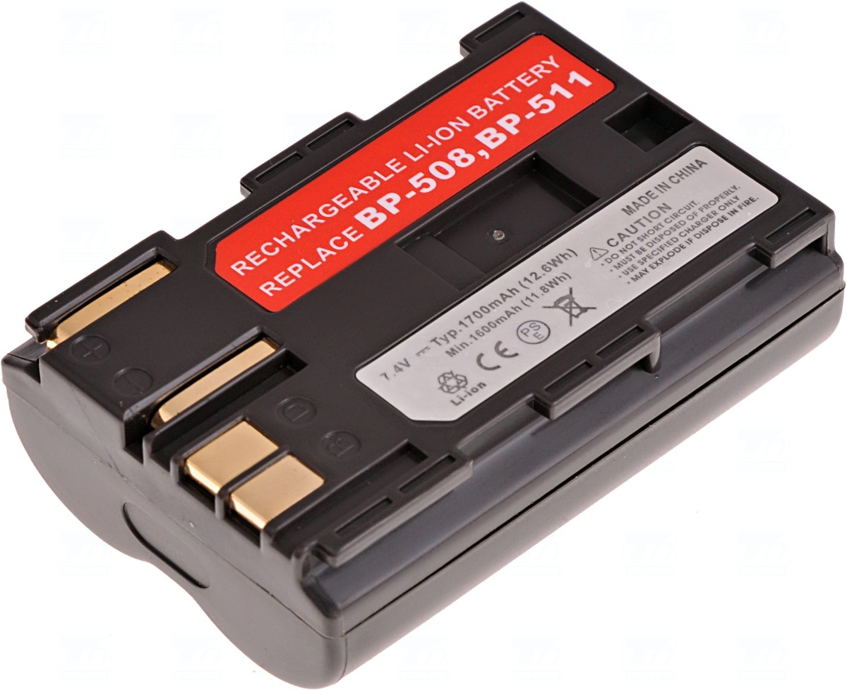 Baterie T6 power BP-508, BP-511, BP-511A,  BP-512, BP-514, hnědá