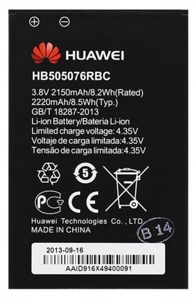 Baterie originál Huawei HB505076RBC, Li-pol, 2150mAh, bulk
