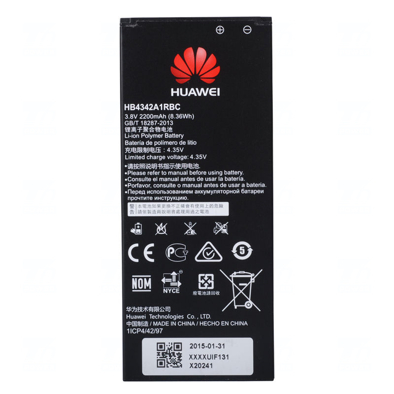 Baterie originál Huawei HB4342A1RBC, Li-pol, 2200mAh, 8,3Wh