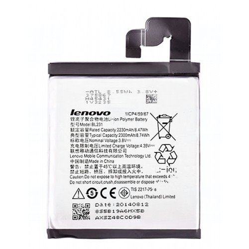 Baterie originál Lenovo BL231, Li-Pol, 2300mAh, 8,7Wh, bulk