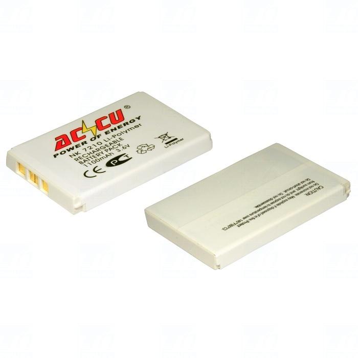 Baterie Accu pro Nokia 2100, 3200, 3300, 6610, 6650, 7210, 7250, Li-ion, 1000mAh