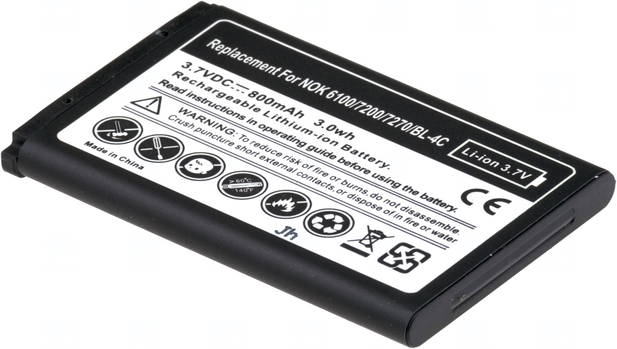 Baterie T6 power BL-4C, 800mAh, 3Wh, Li-ion