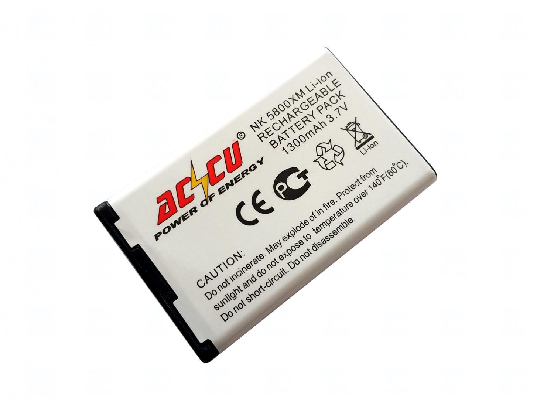 Baterie Accu pro Nokia 5800 Xpress Music, N900, Li-ion, 1300 mAh