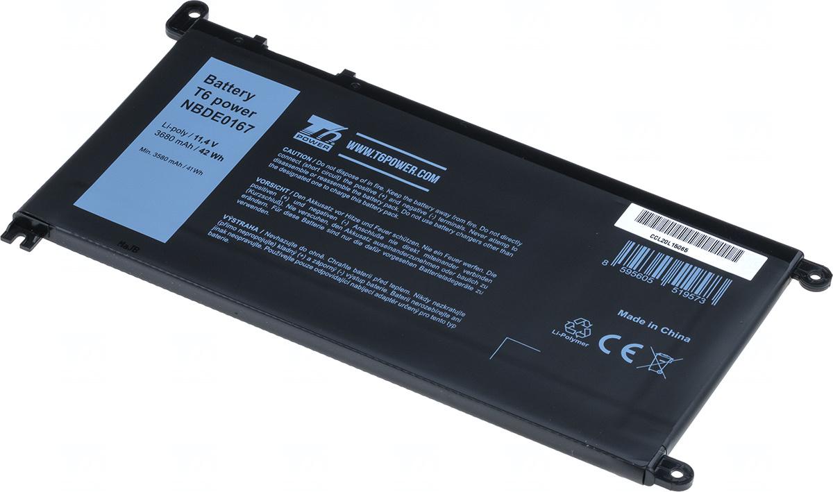 Baterie T6 power WDX0R, T2JX4, 3CRH3, 451-BBVN, Y3F7Y, FW8KR, FC92N, CYMGM, C4HCW, 8YPRW, 1VX1H, 0FJMK, FDRHM, VM732, WJPC4, 1RH5X