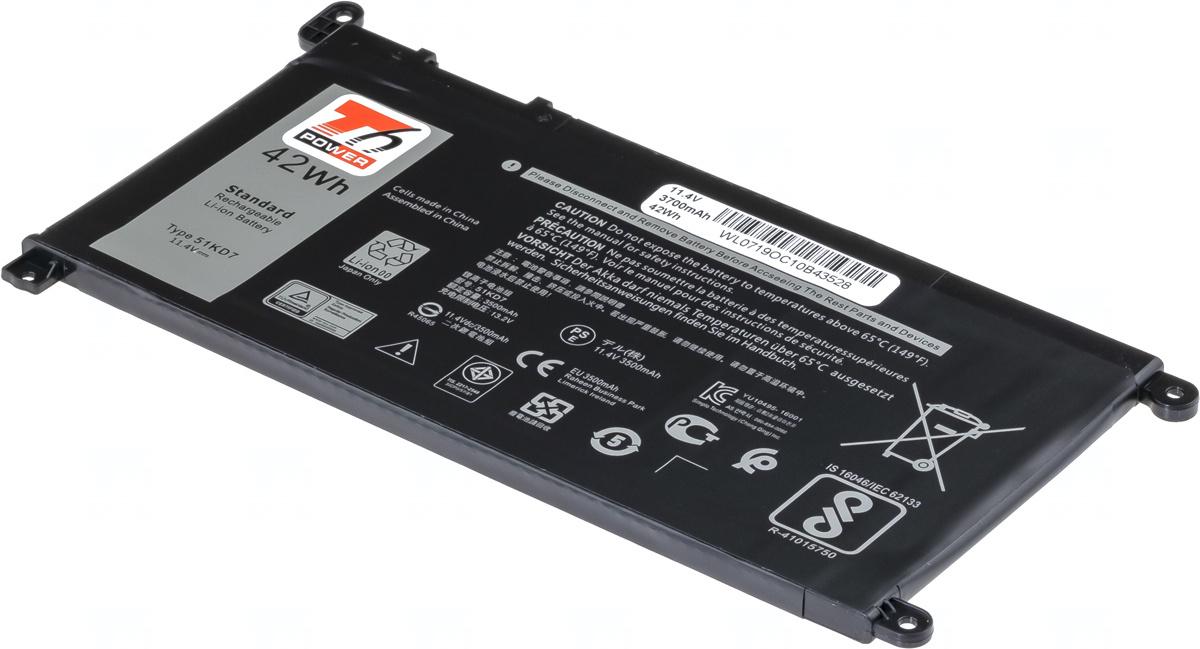 Baterie T6 power FY8XM, Y07HK, 51KD7