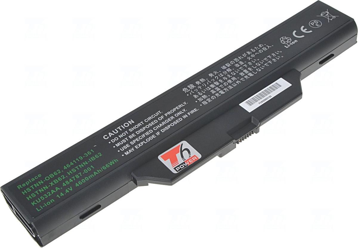 Baterie T6 power KU532AA, HSTNN-IB62, HSTNN-XB62, HSTNN-OB62, 464119-361, 484787-001, 490306-001, 491279-001, 464119-143, DD08, HSTNN-IB48C, HSTNN-IB49C, HSTNN-I50C, HSTNN-I54C, HSTNN-I64C, HSTNN-I65C