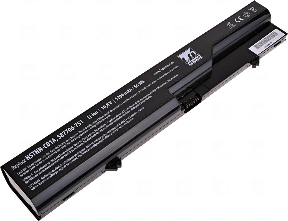 Baterie T6 power 593572-001, 587706-751, HSTNN-CB1A, BQ350AA, 587706-761, 587706-121, 587706-421, HSTNN-CB1B, HSTNN-DB1A, HSTNN-DB1B, HSTNN-I85C, PH06