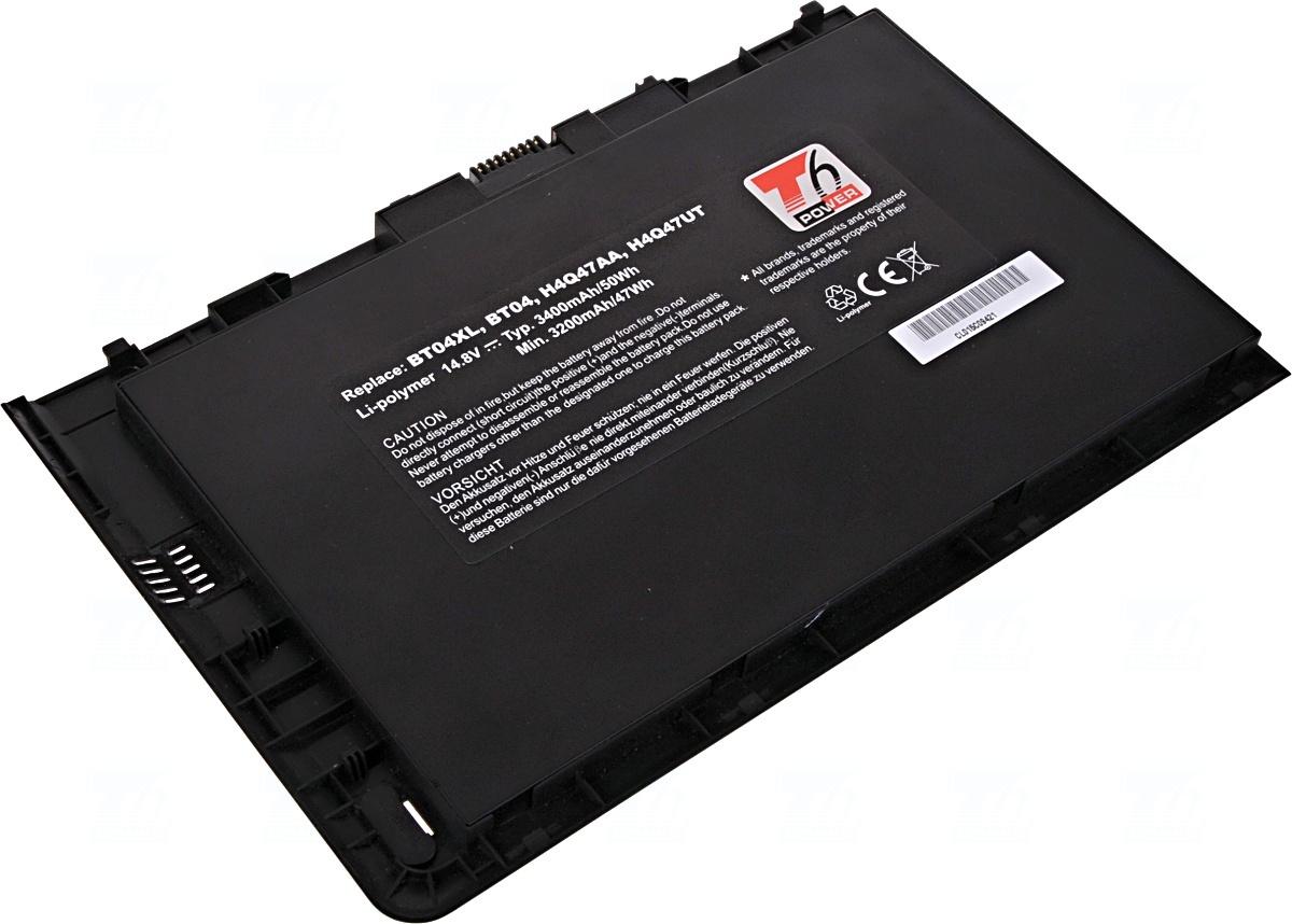 Baterie T6 power 687945-001, BT04, H4Q47AA, HSTNN-IB3Z, BT04XL, BT04052XL, 687517-171, 687517-121, HSTNN-I10C, HSTNN-DB3Z