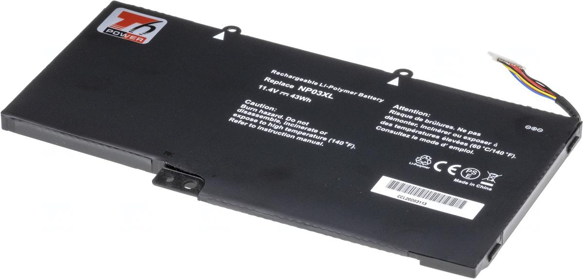 Baterie T6 power NP03XL, 761230-005, HSTNN-LB6L, 760944-421, TPN-Q146, TPN-Q147, TPN-Q148, TPN-Q149