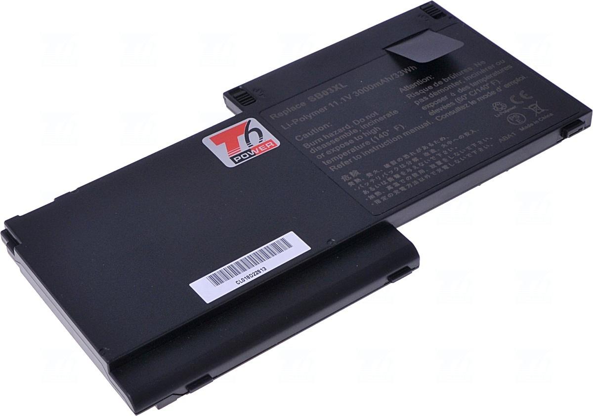 Baterie T6 power Basic SB03XL, 717378-001, E7U25AA, SB03046XL, 716726-171, 716726-421, 740362-001, HSTNN-IB4S, HSTNN-IB4T, HSTNN-L13C, HSTNN-LB4T, 717377-001, 716725-171, SB03026XL