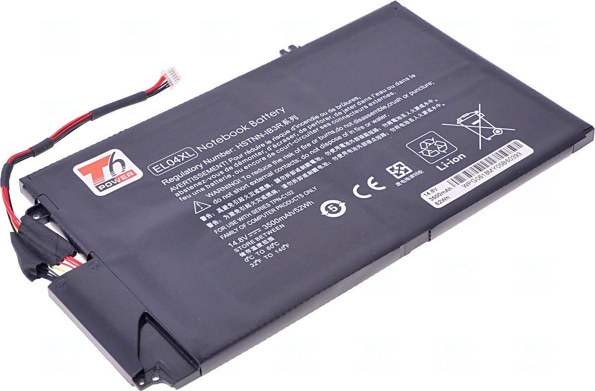 Baterie T6 power EL04XL, 681949-001, EL04052XL, 681879-121, 681879-171, 681879-541, HSTNN-IB3R, HSTNN-UB3R, TPN-C102
