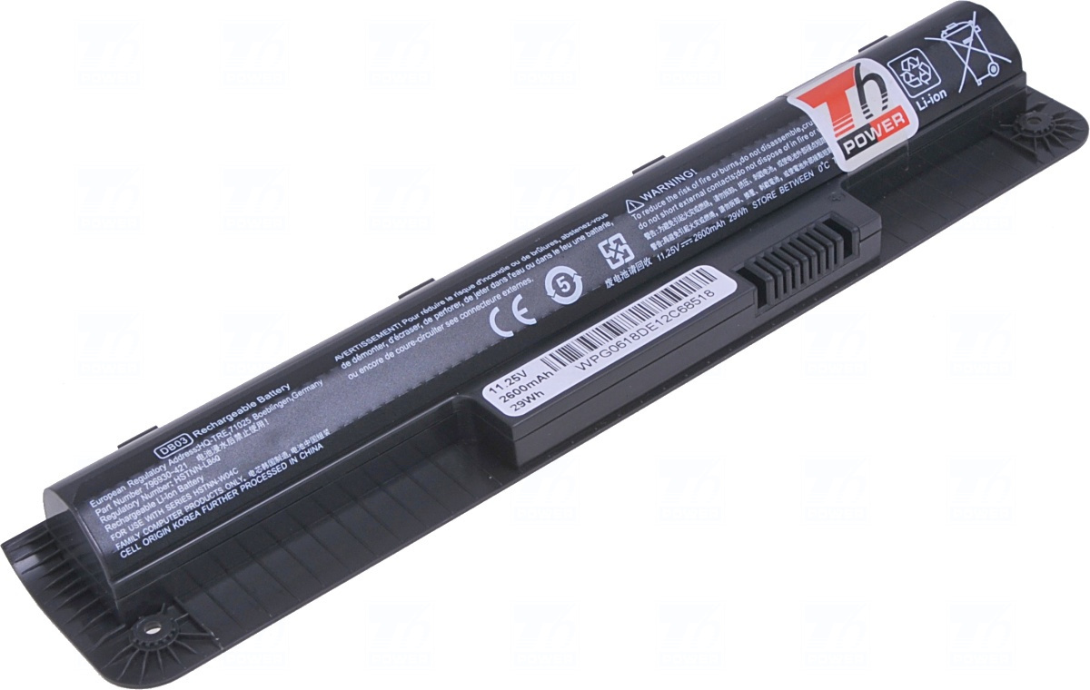 Baterie T6 power DB03, DB03036, 797429-001, 796930-121, 796930-141, 796930-421, HSTNN-IB6V, HSTNN-LB6Q, HSTNN-W04C