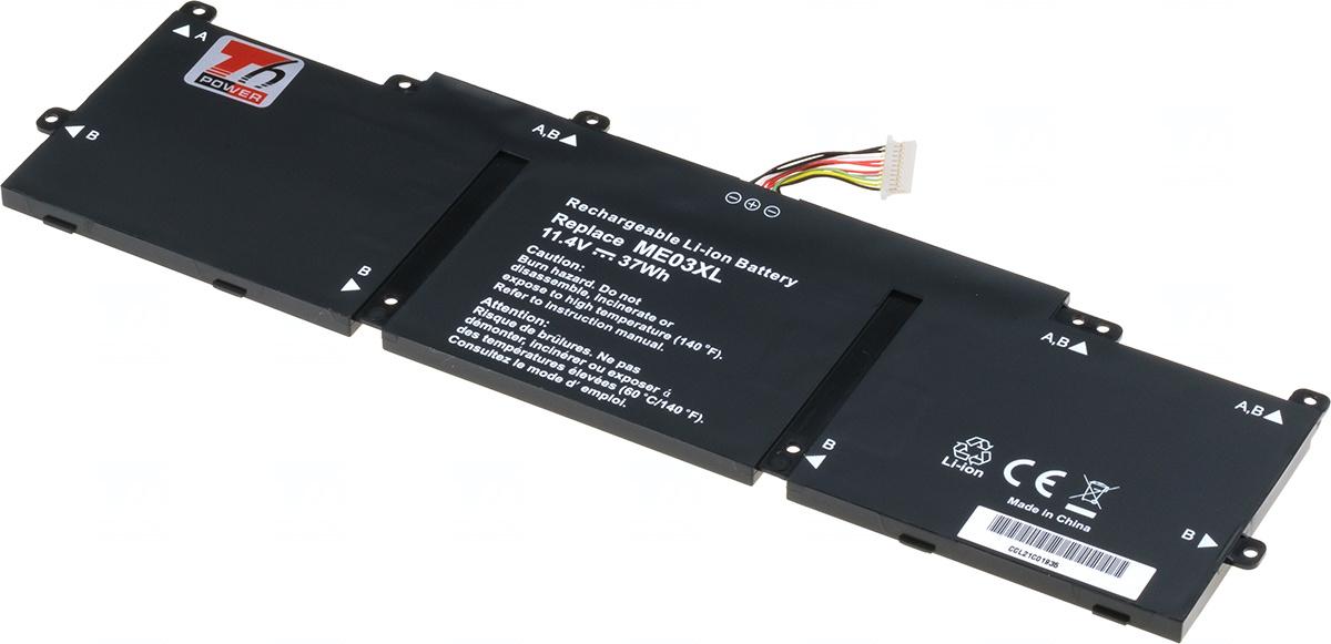 Baterie T6 power ME03XL, ME03, 787521-005, ME03037XL, 787089-421, 787089-541, 787089-542, HSTNN-LB6O, HSTNN-UB6M, TPN-Q154, TPN-Q155, TPN-Q156