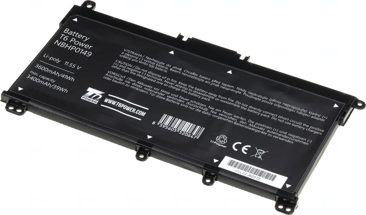 Baterie T6 power HT03XL, L11119-855, L11119-856, L11119-857, HT030, HT03041XL, L11421-1C1, L11421-1C2, L11421-2C1, L11421-2C2, L11421-2C3, L11421-2D1, L11421-2D2, L11421-271, L11421-421, L11421-541, HSTNN-DB8R, HSTNN-LB8L