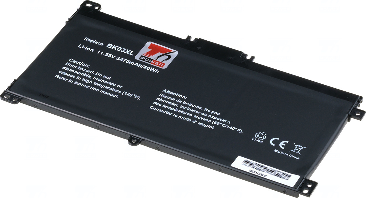Baterie T6 power BK03XL, 916811-855, 916366-421, 916366-541, HSTNN-UB7G, HSTNN-LB7S, TPN-W125