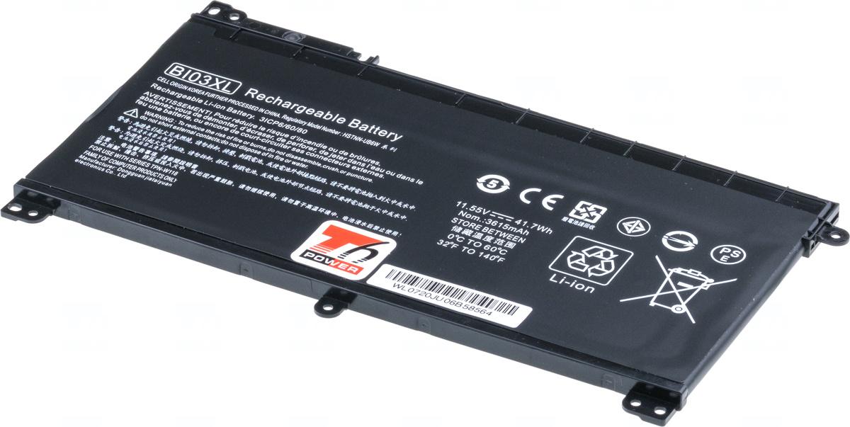 Baterie T6 power BI03XL, 844203-850, BI03041XL, 844203-855, 843537-421, 843537-541, TPN-W118, HSTNN-UB6W