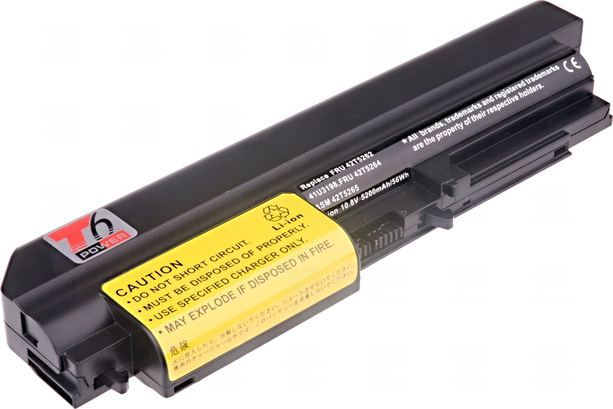 Baterie T6 power 41U3198, FRU 42T5262, FRU 42T5264, ASM 42T5265, 42T4547, 42T4652, 41U3197, 42T4653, 42T4549, 33+
