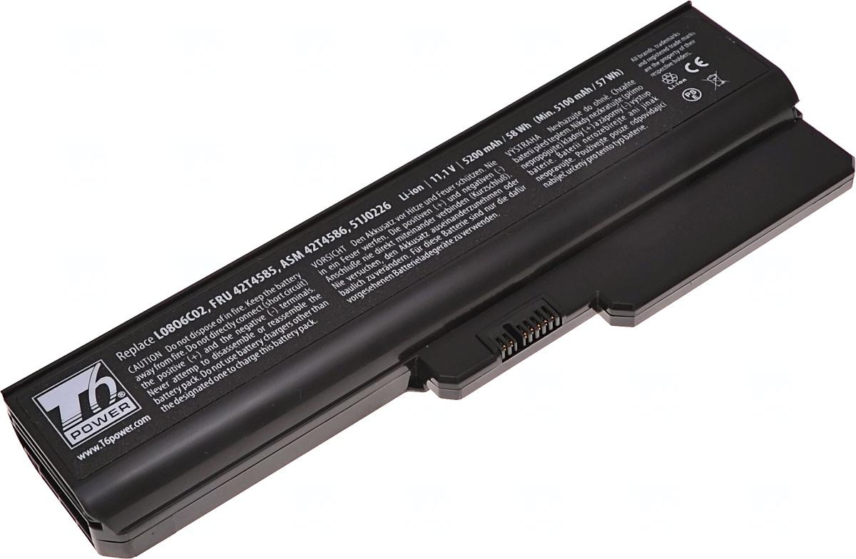 Baterie T6 power FRU 42T4585, ASM 42T4586, 51J0226, L08O6C02, L08S6C02, L08L6C02, ASM 42T4728, FRU 42T4727, L06L6Y02, L08S6D02