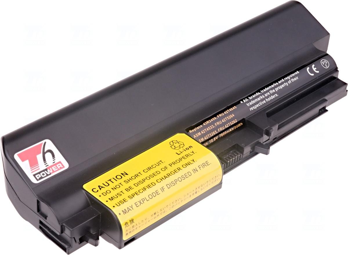 Baterie T6 power 43R2499, FRU 42T4645, FRU 42T4530, FRU 42T4532, ASM 42T4533, 41U3198, FRU 42T5263, ASM 42T5265, FRU 42T4548, FRU 42T4645, 42T4677, 42T4644, 33++