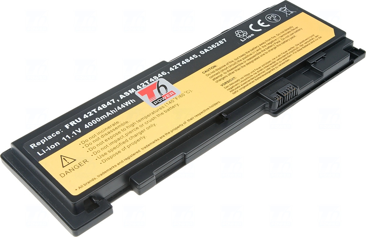 Baterie T6 power 42T4845, 42T4847, 0A36287, 81+, 0A36309, 45N1037, 45N1039, 45N1065, 45N1067, 66+, 45N1038, 45N1143