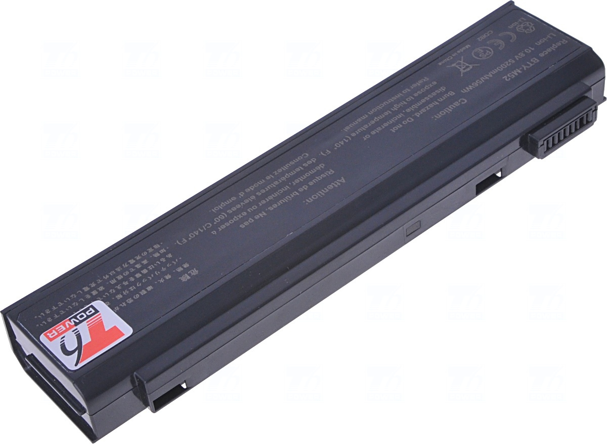 Baterie T6 power BTY-M52, 925C2310F, 957-1016T-005, 1016T-005, 925C2240F, 925C2590F, S91-03003M-SB3
