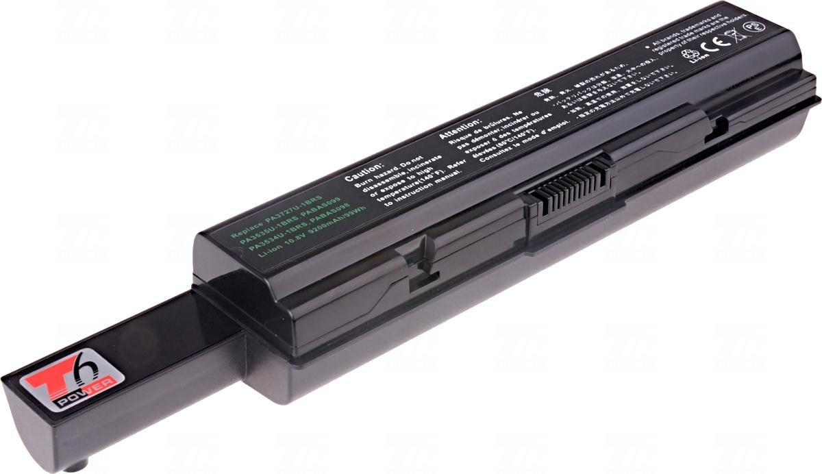 Baterie T6 power PA3682U-1BAS, PA3682U-1BRS, PA3727U-1BAS, PA3727U-1BRS, PABAS099, PABAS174