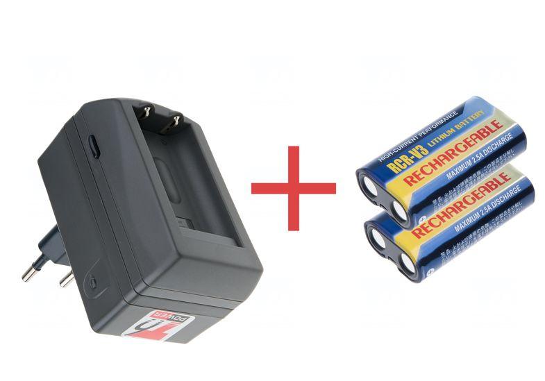 2x baterie T6 power CRV3 + nabíječka T6 power pro CRV3 - akční set