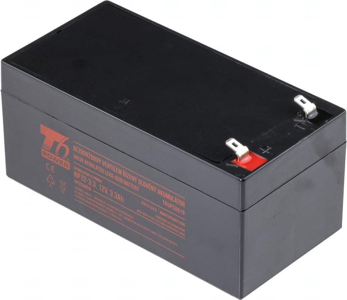 Akumulátor T6 Power NP12-3.3, 12V, 3,3Ah